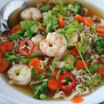 shrimp and veggie ramen