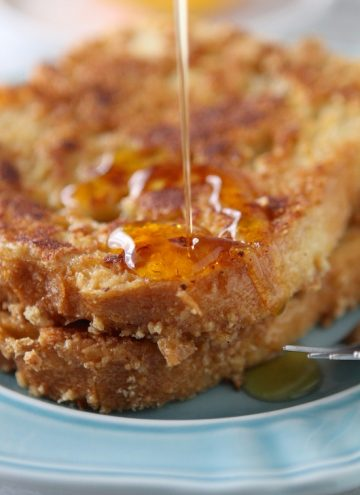 Cinnamon Toast Crunch Encrusted French Toast