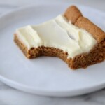 gingerbread bar with bite from it