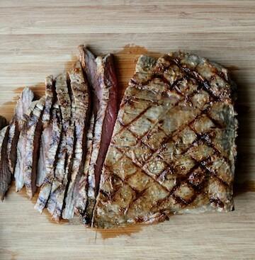 Grilled Garlic Flank Steak