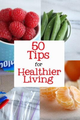 50 tips for healthier living collage