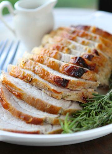 Rosemary Maple Mustard Pork Roast
