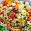 roasted veggie and quinoa salad