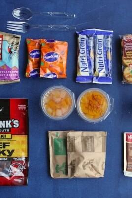 breakdown of food in the 72 hour emergency kit