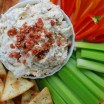 cheddar bacon ranch dip with dipping options