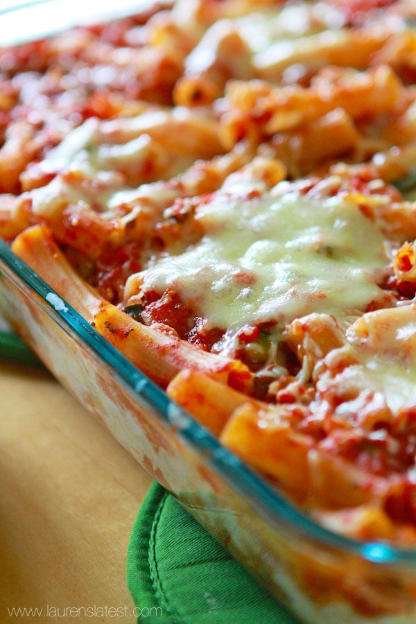 Baked Rigatoni Lasagna from www.laurenslatest.com