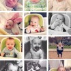 collage of baby blake