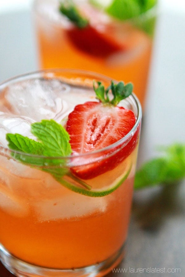 Strawberry Limeade with Mint