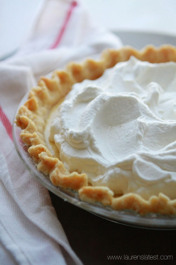 Lemon Cream Pie with whipped cream