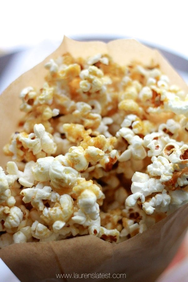 Healthy Caramel Popcorn Recipe | Lauren's Latest