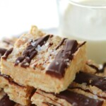salted chocolate ritz nougat bars