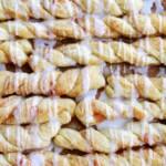 cinnamon sugar twists with icing