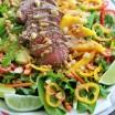 sirloin thai salad in a bowl