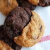 half chocolate and half pumpkin cookies