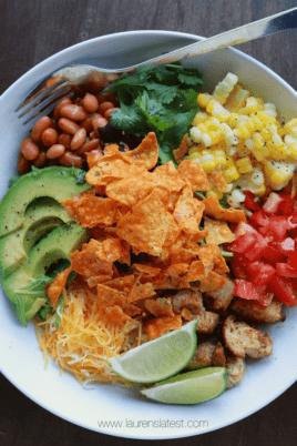 dorito taco salad in a bowl