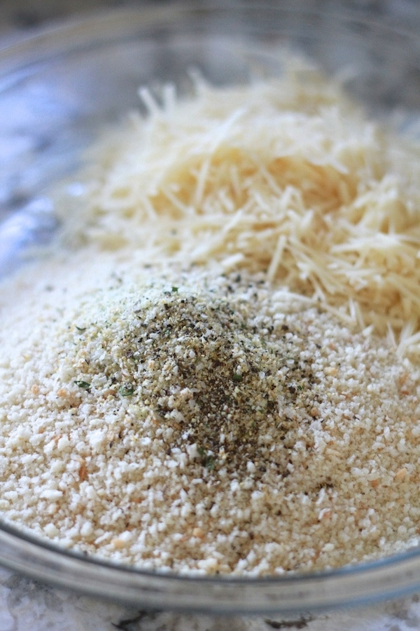 bread crumbs, parmesan cheese, garlic salt, pepper
