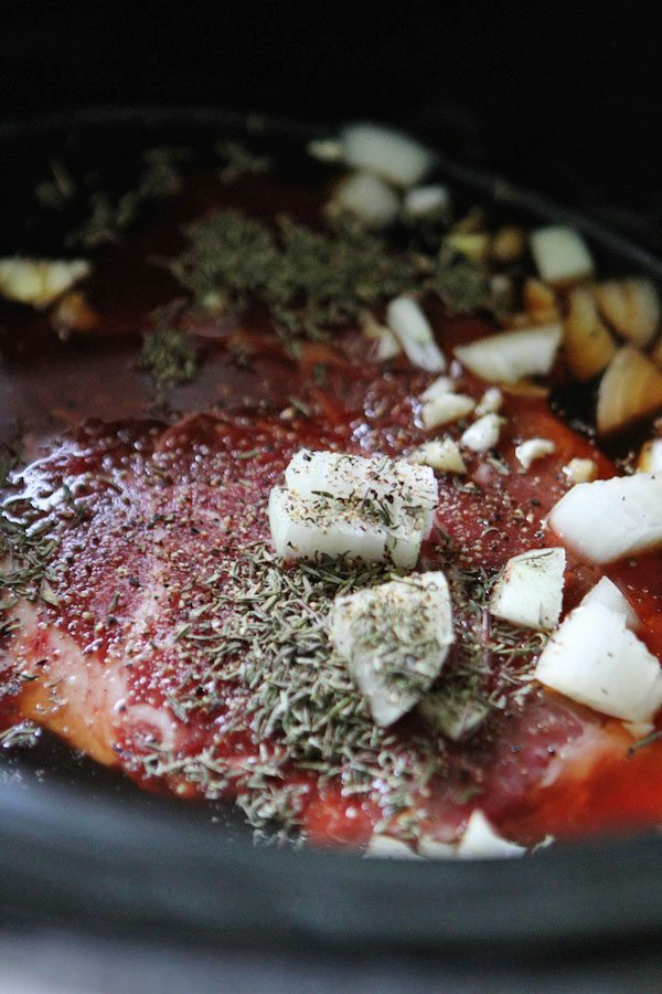 Slow Cooker Pot Roast Ingredients