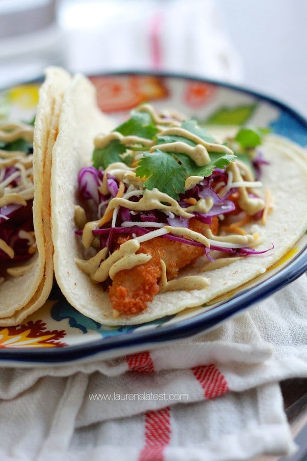 Baja fish taco bar lauren 39 s latest for Baja fish tacos menu