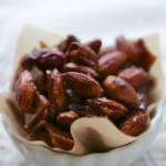 gingerbread caramelized almonds in a bowl