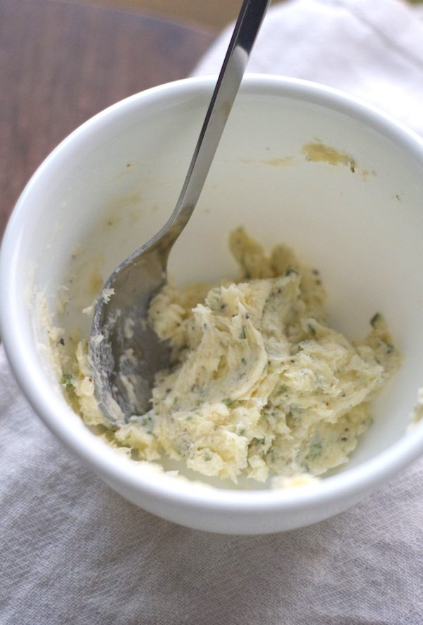 garlic butter mixed