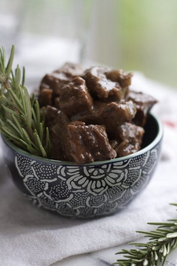 Crockpot Balsamic Beef with Rosemary | Lauren's Latest