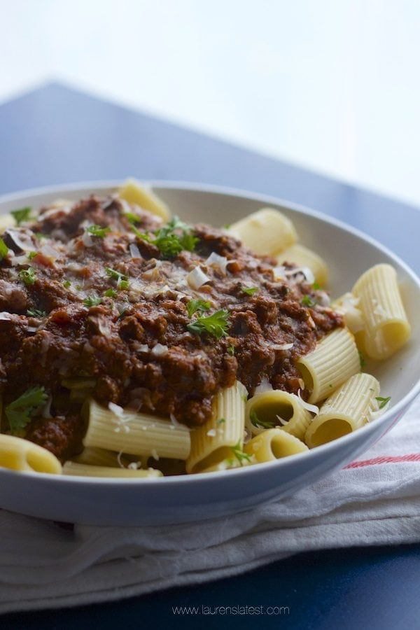 Bolognese Sauce on pasta