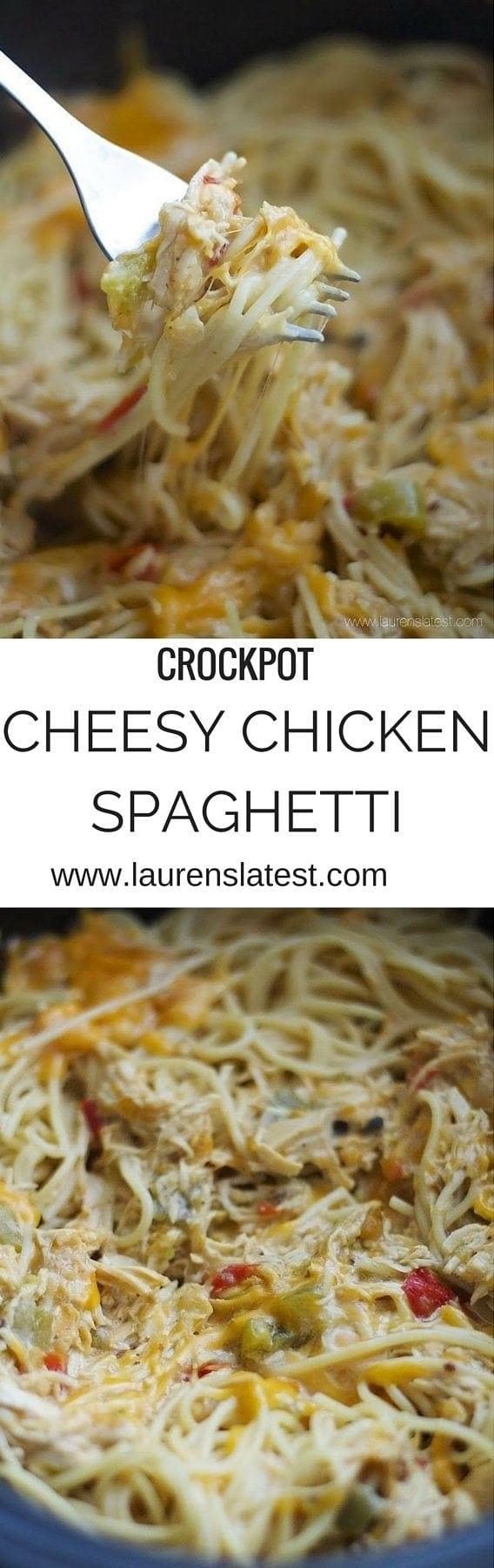 Easy Chicken Spaghetti Recipe In A Crockpot