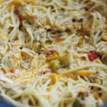 Crockpot Cheesy Chicken Spaghetti Recipe Lauren S Latest
