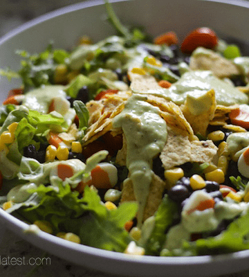 Charred Tomatillo Avocado Dressing + Salad
