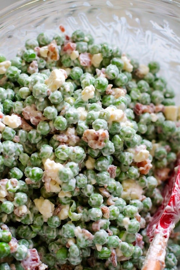 Blue Cheese & Bacon Spring Pea Salad
