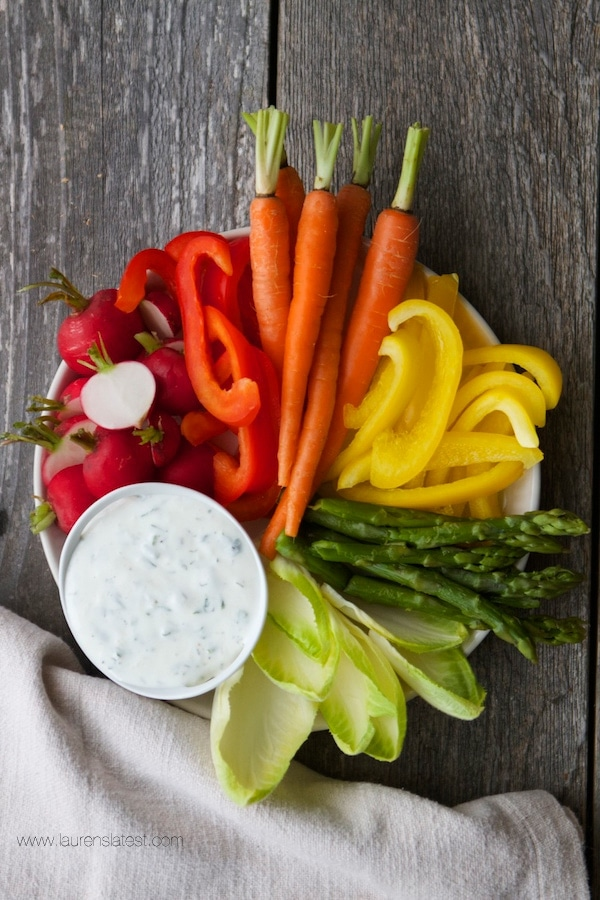Veggies and homemade ranch