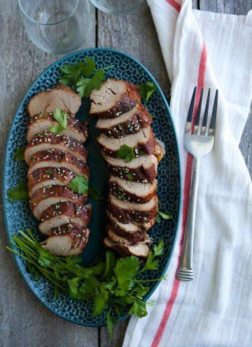 Crockpot Cherry Balsamic Glazed Pork