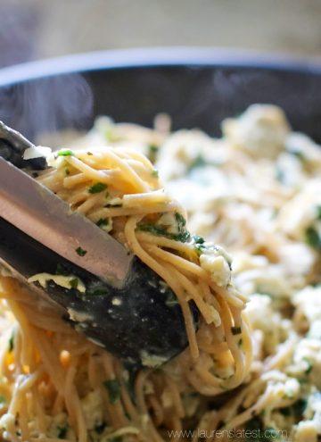 Garlic Chicken & Kale Spaghetti