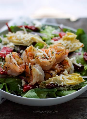 Antipasto Grilled Shrimp Salad