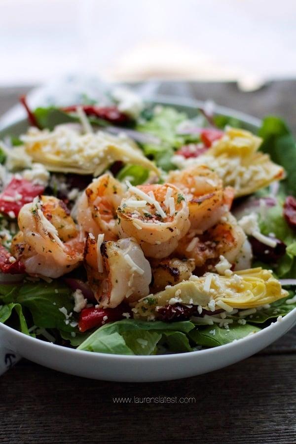 Antipasto Grilled Shrimp Salad