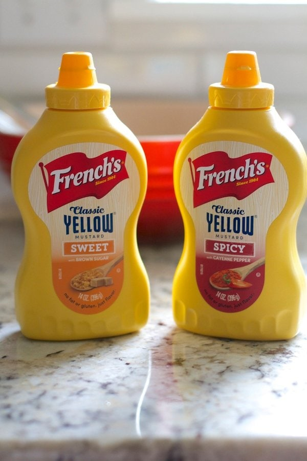 Sweet and Spicy Yellow Mustard Bottles