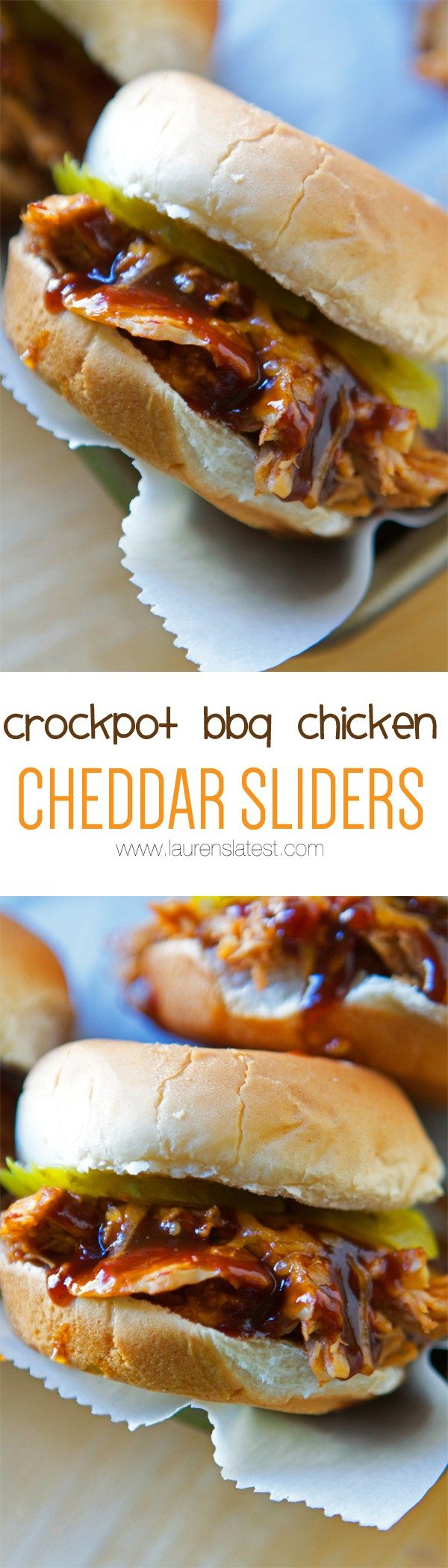 crockpot bbq chicken cheddar sliders
