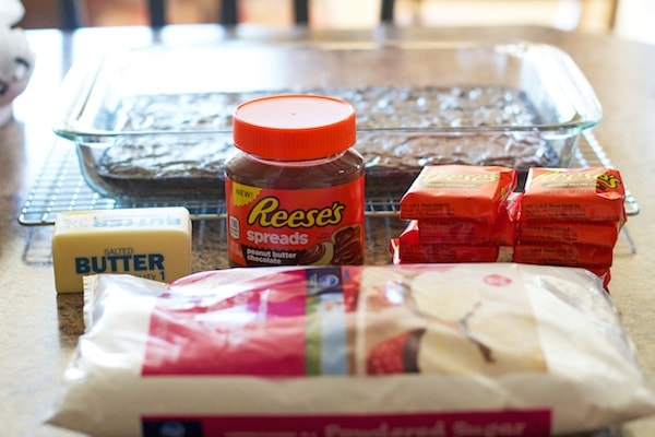 Ingredients for Reese\'s Frosting