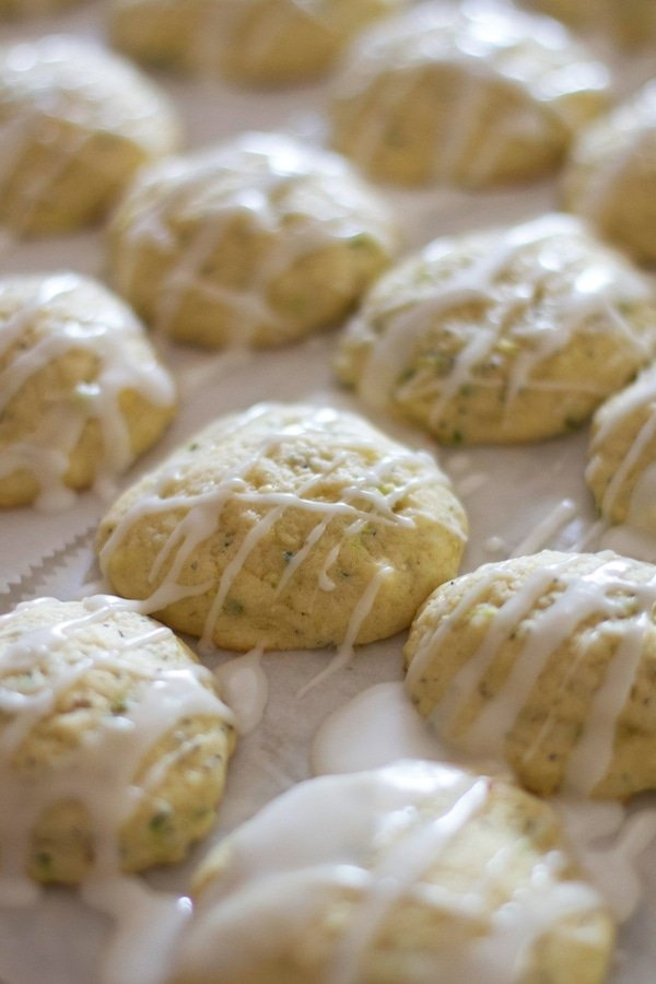 lemon zucchini cookies with icing