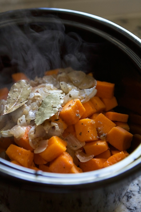 Butternut Squash Alfredo in the crockpot