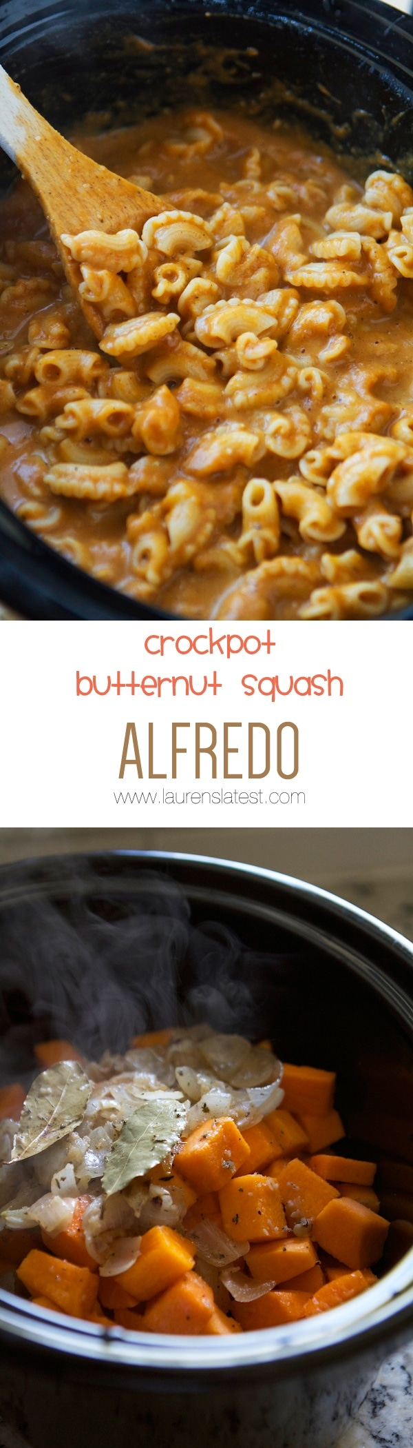 Crockpot Butternut squash collage