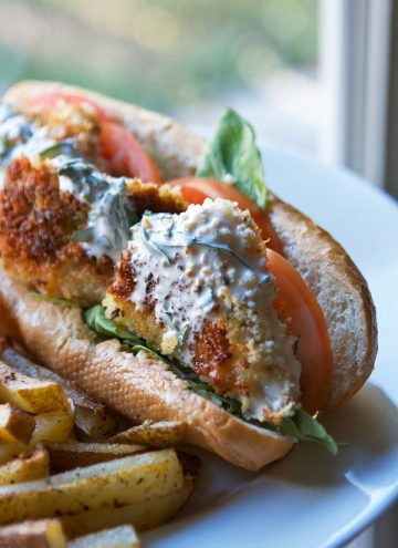 Crispy Red Fish Sandwiches & Old Bay Home Fries