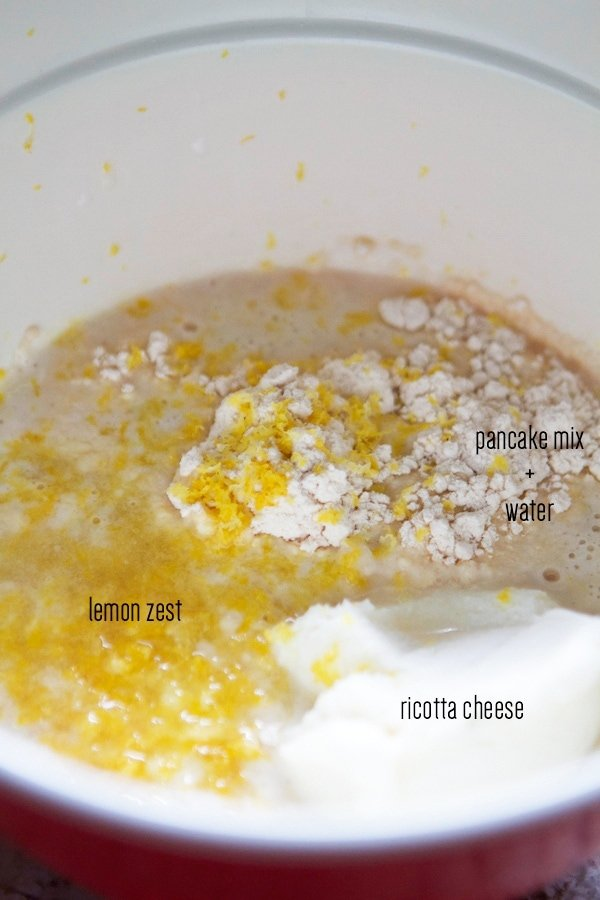 lemon ricotta pancake recipe batter