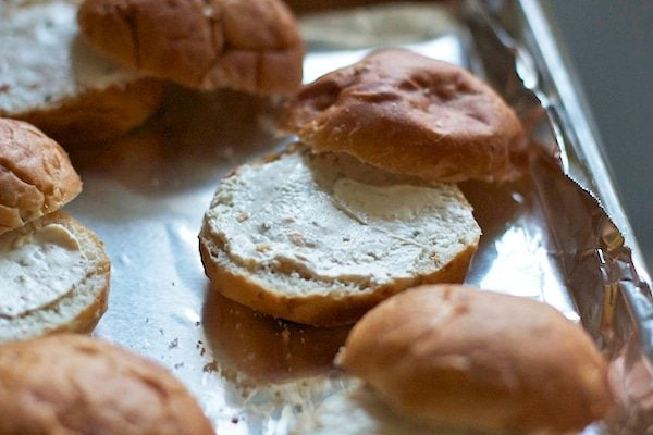 Cream cheese on buns