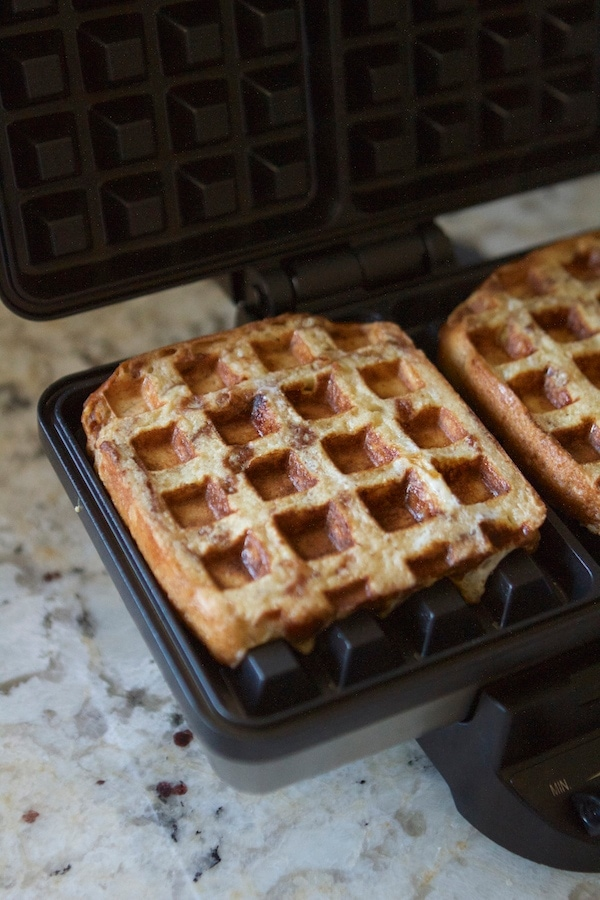 French toast in a waffle iron