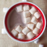 Birds eye view of hot chocolate