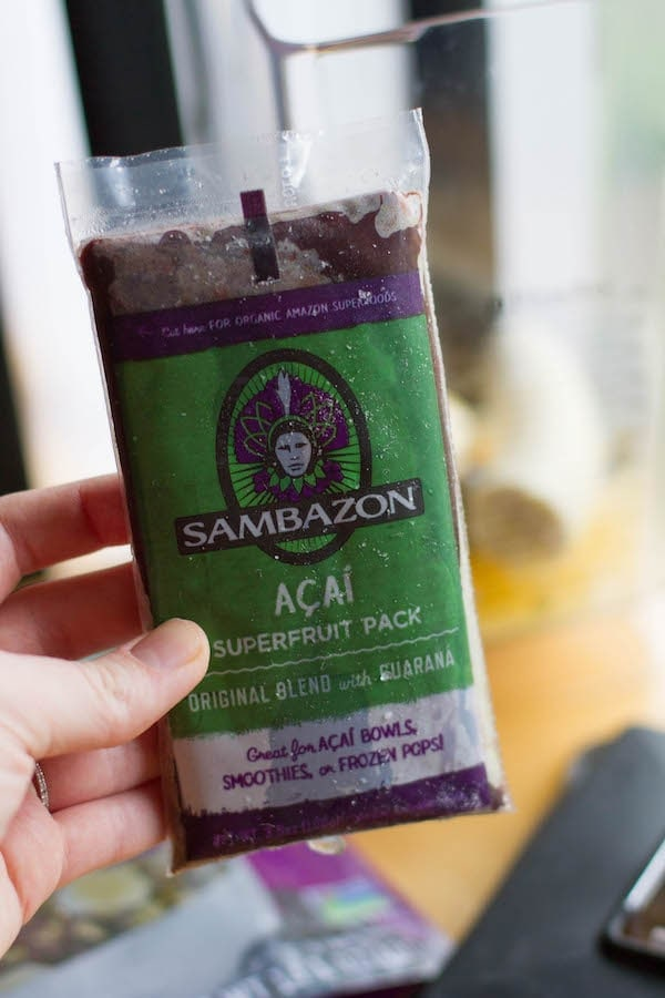 Frozen Acai superfruit pack