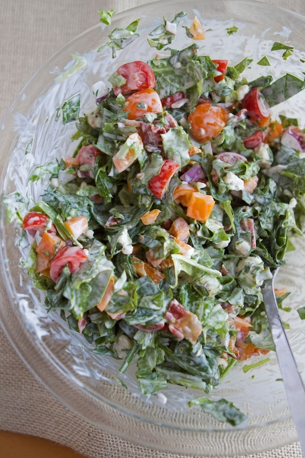 Tomatoes with Green Goddess Dressing photo