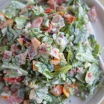 Chopped Salad with Basil Green Goddess Dressing