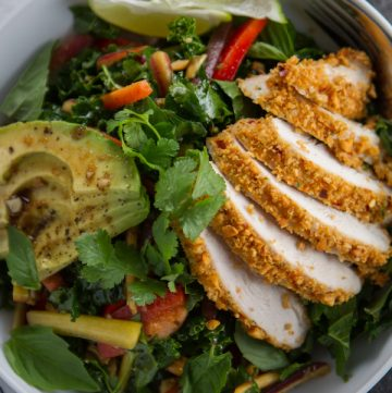 Thai Peanut Chicken & Kale Salad